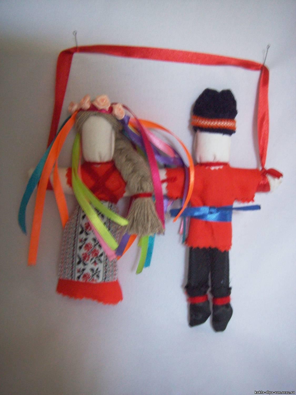 Неразлучники. Народная кукла из ткани, мастер-класс / Умелые 99